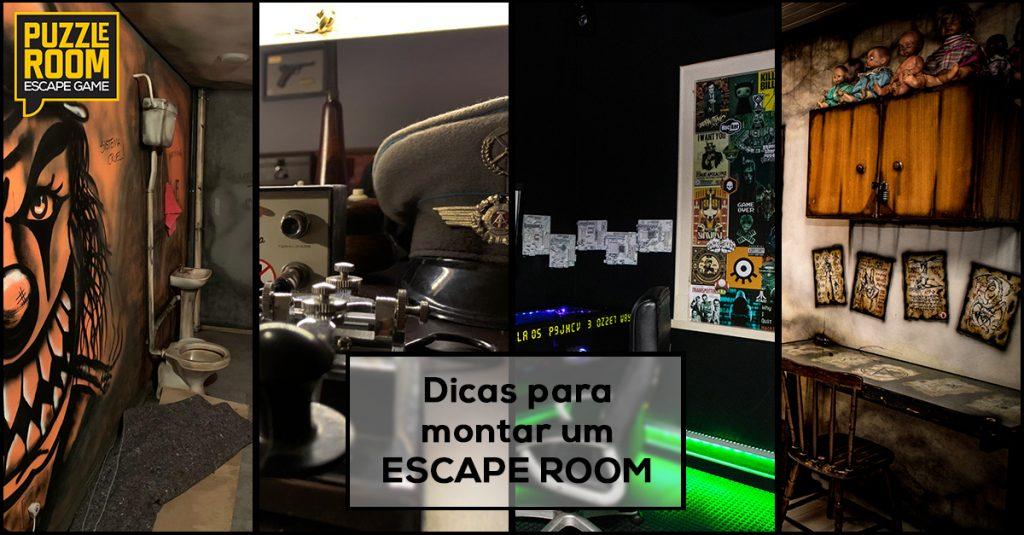 dicas para montar um escape room