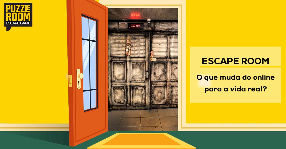 Escape Room O Que Muda Do Online Puzzle Room Escape Game